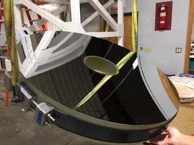 40-inch mirror at coating vendor