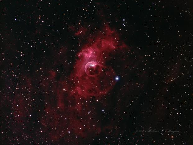 NGC 7635,  the Bubble Nebula in Cassiopeia