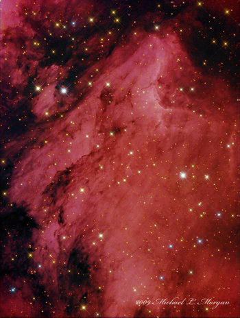 The Pelican Nebula From Pulpit Rock