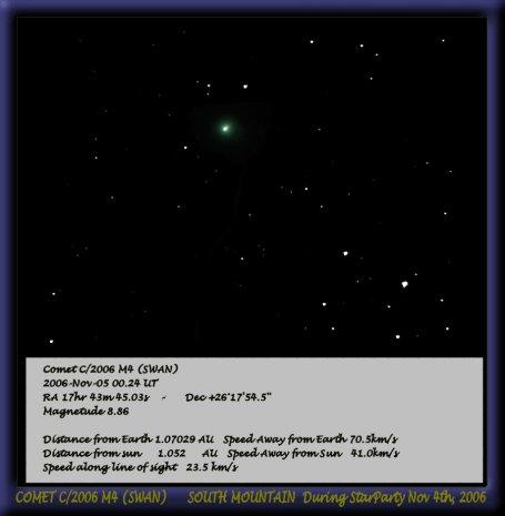 Comet C/2006 M4 SWAN