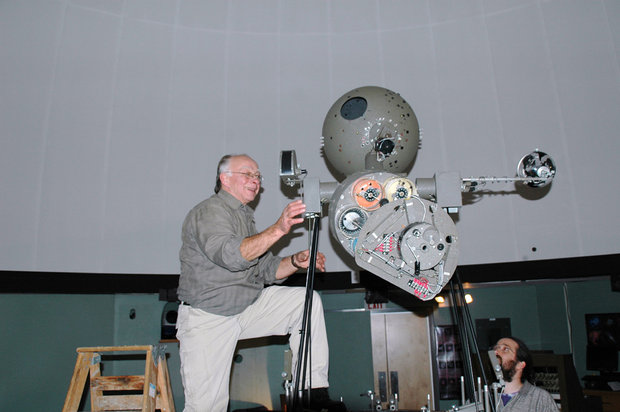 Preparing the projector for removal from Kutztown University