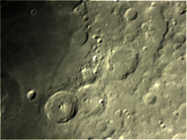 Craters Theoplilus, Cyrrilus and Catharina