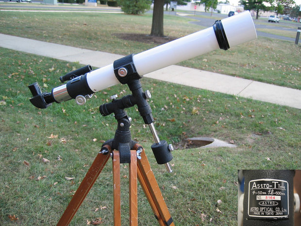 "1955 Astro Optical 50mm f/10 Vintage Refractor Model ""T"" type"