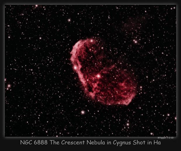 The Crescent Nebula in Ha