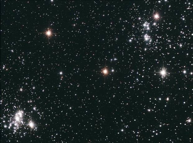 The Perseus Double Cluster from Pulpit Rock during Mini-Meet Sept 19th