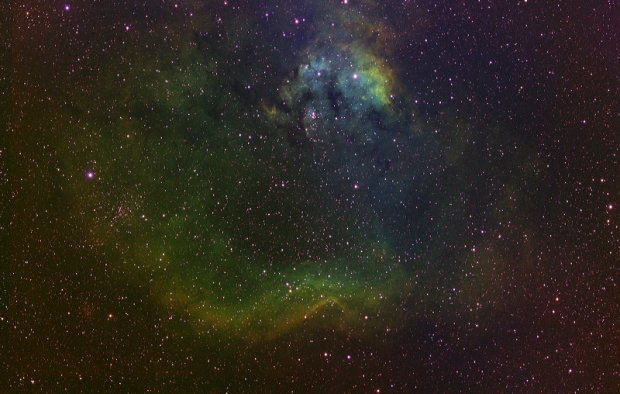 NGC7822 and Cederblad (CED) 214 in Mapped Color