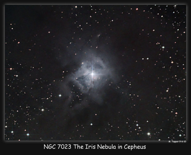 The Iris Nebula in Cepheus