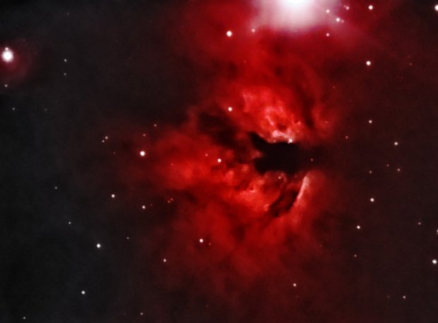 NGC 2024 Flame Nebula in Orion (reworked)