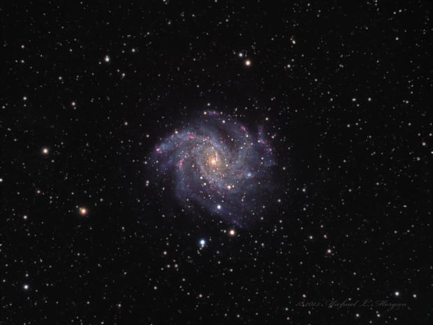 NGC6946 The Fireworks Galaxy in Cepheus