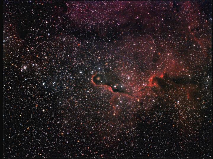 The Elephant Trunk nebula in Cepheus