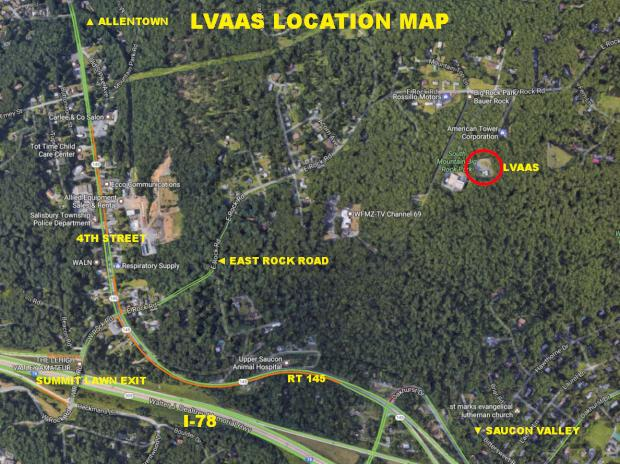 LVAAS South Mountain Location Map (satellite)