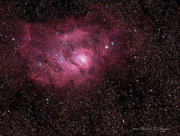 M8 The Lagoon Nebula in Sagitarius
