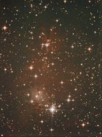 ....oh and the Cone Nebula above it.  OK in the spirit of safe holidays, North is down so the candles don't set fire to the tree.  Taken with an Atik 16hrc on an AstroTech ED80AT mounted on a Celestron ASGT, guided with a CCDLabs QGuide on an Oori