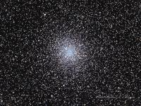 """M22 in globular cluster in Sagittarius. It is one of the nearest and brightest clusters. Certainly one of my favorite visual objects. I had imaged this several years ago with my FLT-110 and was quite satisfied with the results. That was until a fellow LVAAS member sent me an image taken with a 12"""" Ritchey Chretien. Unfortunately for star clusters aperture rules, hence the need to drag a larger beast with me.  Taken at Cherry Springs State Park July 16-17th, 2015. Celestron CGE1100 with a Starizona F7.5 reducer/corrector (2100 mm effective focal length) QSI583wsg camera binned 2x2 LRGB. Aquired in Astroart, stacked in DSS, further aligned in Registar and processed in Photoshop."""