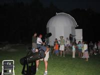 Club members entertain large group of youngsters during Sept. star party