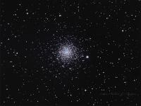 Messier 30  globular cluster in Capricornus. Taken at Cherry Springs State Park September 6th and 7th 2015.  This cluster is fairly low in the south topping out at about 25 degrees elevation at transit from here. Celestron C8 QSI583wsg @F7.5 with a Starizona reducer corrector. LRGB, Luminance 18x5 minutes binned 2x2 RGB 24 each @ 1 minute binned 2x2. Aquired in Astroart, stacked in Deep Sky Stacker, Aligned in Registar and processed in Photoshop