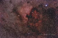 The North American and Pelican Nebulae taken 08-08-15 at Pulpit Rock Canon 60Da Sigma APO150 2.8 Macro 18 x 5 minutes F5.6 ISO 800