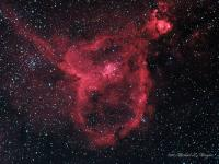 The Heart Nebula in Cassiopeia Taken October 9 & 10 at Cherry Springs State park, PA.