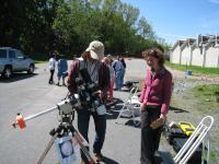 LVAAS Member Ron Kunkel explains how the solar telescopes work to one of the teachers.