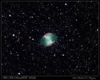 Taken at the 2007 Mason Dixon star party. William Optics FLT-110, Baader color filters, Starlight Xpress SXV-H9. LRGB - luminance 10 x 4 minutes, RGB 20 x 1 minute each.