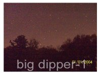 this picture was taken with a kodak dx7440. it was 64 seconds. at f2,8. you can see how much light pollution there was. wich is all gone in big dipper-2.