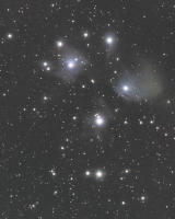 November 3, 2015 Pulpit Rock.  Thirty 25 second frames unguided 800 iso plus darks.  Canon T1i, Orion 80 EDCFT, Celestron AVX.  Captured in BackyardEOS, stacked in Deep Sky Stacker.  Basic processing in PixInsight Core Version 1.8 (trial). Cropped in PSCS3.