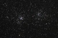 The Double Cluster in Perseus (NGC 869 & 884). Imaged 9/16/2015 from Neffs, PA. 2 hours, 30 minutes (30X5 min) exposure. Astro-Tech AT65EDQ @ f6.5, SBIG8300C camera.