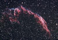NGC6992 & 6995, the Eastern portions of the Veil Nebula in Cygnus, also called