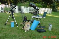 Celestron NexStar 5i OTA on AS-GT mount, Pembroke Welsh Corgi and CPC 8 XLT