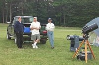 Barry, Bill and Ron waiting for dark  [i] Originally uploaded by Joe Zelinski [/i] [i] 09 July 2002 [/i]