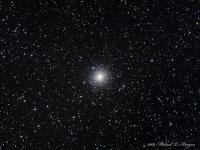 """M2 (NGC 7089 ) Globular cluster in Aquarius.   Astronomer John Herschel in 1830 commented  """" A most superb cluster … It is like a heap of fine sand!"""" Smyth commented: """"This magnificient ball of stars condenses to the centre and presents so fine a spherical form, that imagination cannot but picture the inconceivable brilliance of their visible heavens, to its animated myriads."""