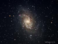 A large spiral galaxy in the constellation of Triagulum. Taken on 9-26-14 from Pulpit Rock