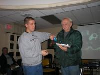 Ryan Hannahoe demonstrating how Space Shuttle tiles dissipate heat. Bob Bukovsky couldn\'t feel a thing!
