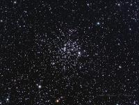 M52 open cluster in the Cassiopeia. I've been meaning to do a re-shoot of this object since obtaining a new corrector for my SCT a few years back Taken from Highland Lakes, NJ 08-27-2015 Celestron C8 w/ Starizona reducer-corrector @ F7.5  QSI583wsg LRGB L=18x2 minutes binned 2x2 RGB = 10 each at 2 minutes binned 2x2 Aquired in Astroart, stacked in Deep Sky Stacker, aligned in Registar and processed in Photoshop. Star spikes added with Noel Carboni's Star spikes Pro ( my apologies to the purists)