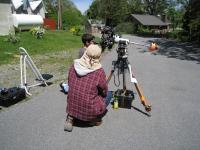 LVAAS Member Ron Kunkel instructing one of the students on the proper techniques of solar viewing.