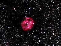 11x5min exposures. WO 90mm Megrez, IDAS LPF, Losmandy GM-8, Captured in Nebulosity, guided with PHD on a 135mm camera lens. Proc in PS CS2. Taken 8-3-08 Nazareth, PA