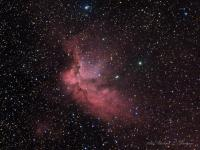 Sh2-142 The Wizard Nebula in Cepheus. NGC7380 is the open cluster above the